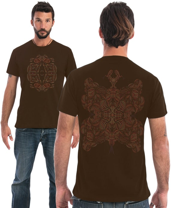 Mens t shirt cotton tshirt fractal screen printed by iiisoliii for T shirt screen printing nyc