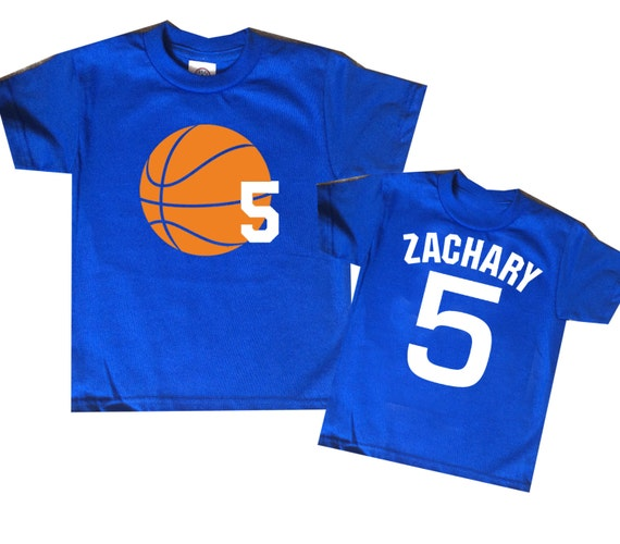 Birthday Party Entertainment Nj: Basketball Birthday Shirt Personalized Two Sided Basketball