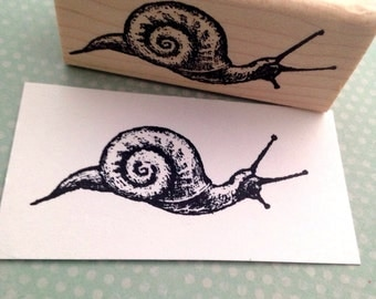 A Perfect Snail Rubber Stamp 3128