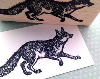 Fox Rubber Stamp 2708