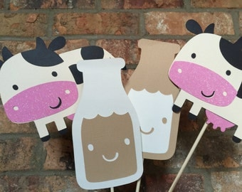 COW AND MILK  photo booth props
