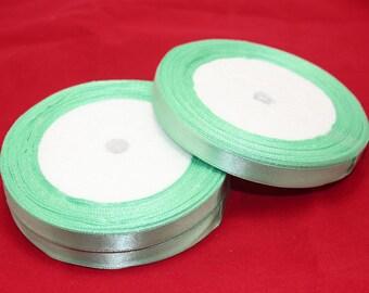 """Mint Green Satin Ribbon-3/8"""""""