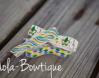 Mardi Gras Hair Ties