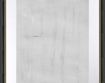sale!! original  abstract painting 18x24 inches on heavy art paper titled  ALMOST WHITE