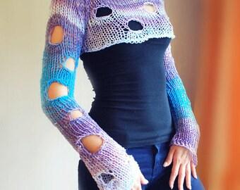 Knitting Pattern Knit Sweater Bolero Knitting Sweater pattern instant download