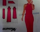 1979 Maxi~Midi Criss-Cross Strap Sheath Dress w/Sash Pattern Simplicity 9083 Miss 12 Bust 34 SEXY SHOULDERS DRESS Pattern at WhiletheCatNaps