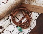 TN-01, minimal genuine turquoise choker/necklace/bracelet/anklet