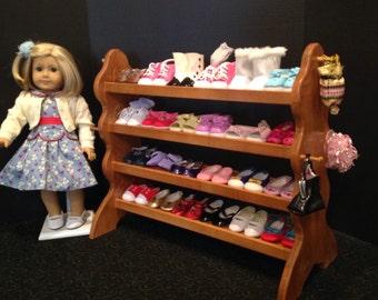 "American Girl Doll: 22"" shoe rack for 18"" American Girl Doll"