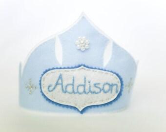 Frozen Inspired Crown - Personalized Winter Queen Tiara, Blue Elsa