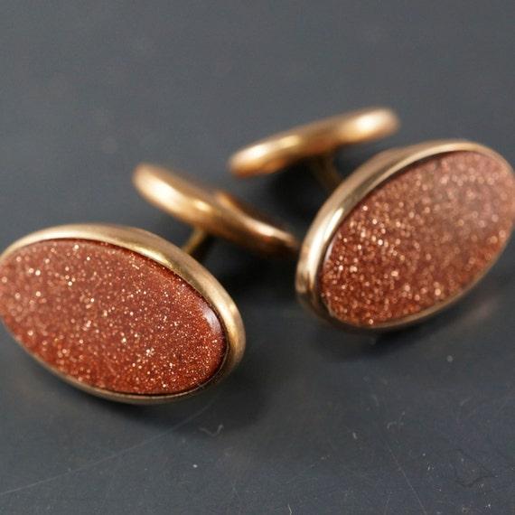 Victorian cuff links. goldstone gilt gold cufflinks. ladies. mens. tuxedo . wedding NO.00411