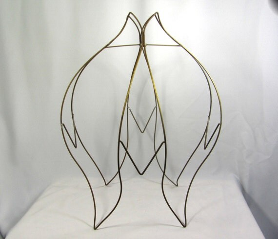 Lamp Shade Wire Frame For Floor Lamps Huge Old Tulip Victorian