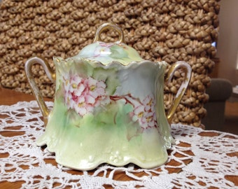 Vintage Porcelain  Sugar Bowl And LId