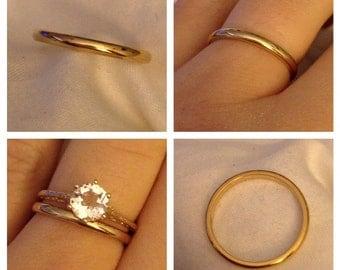 14K Yellow Gold Estate Wedding RIng