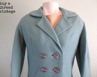 Vintage 60s Mod  Baby Blue Coat by Carol Brent