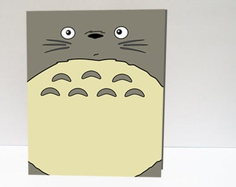 Totoro Valentine's Day Printable card (digital card)
