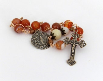Unbreakable single Decade Rosary of Mary- Queen Of The Holy Rosary