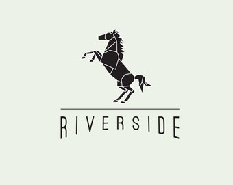 Customizable Pre-made logo design OOAK modern horse logo