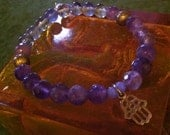 Intuitive Soul - Soft, feminine and 3rd eye healing crystal bracelet