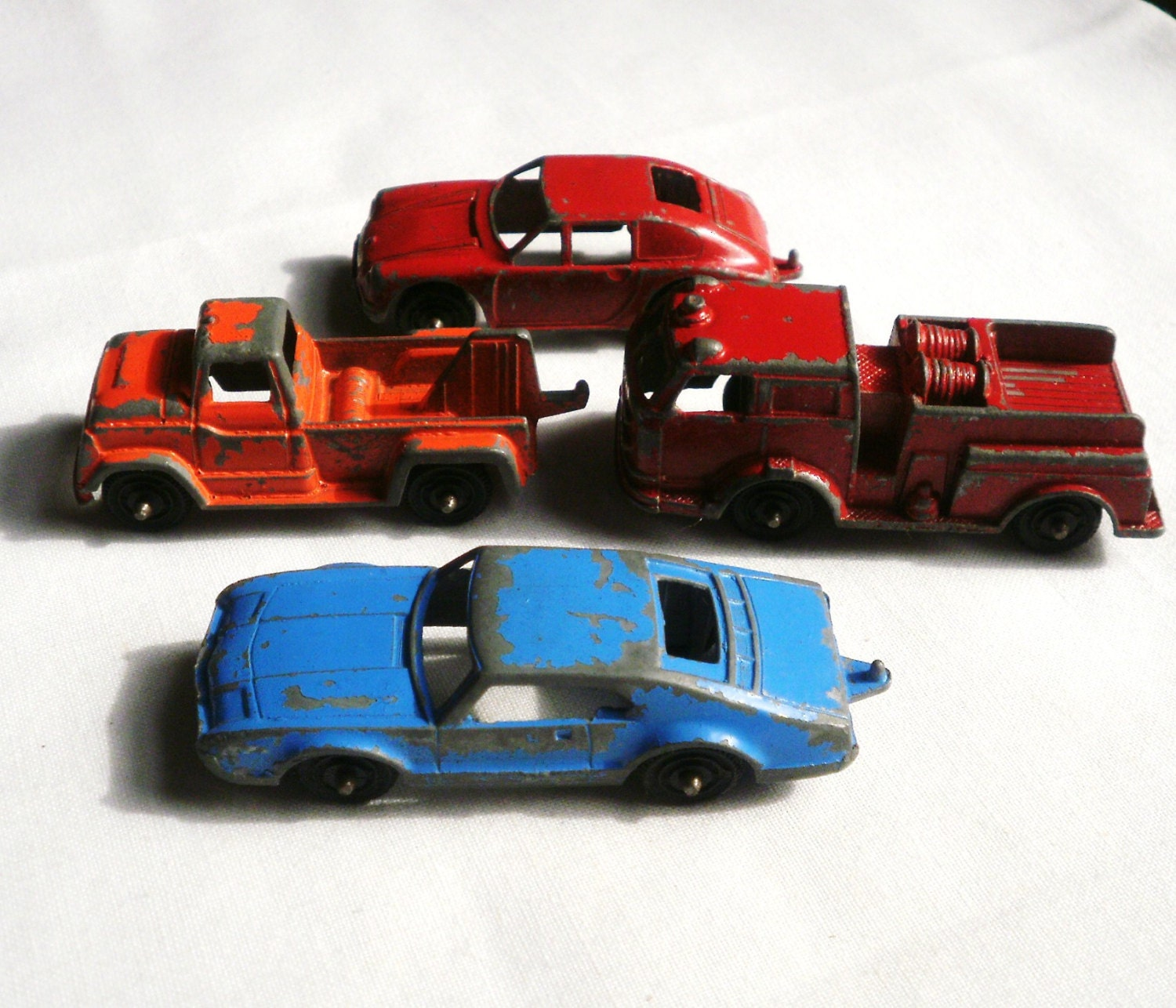 Four Vintage Tootsie Toy Cars By Antiquario On Etsy