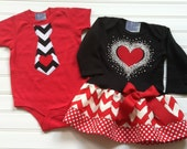 Matching Brother Sister Valentines Day Outfits Valentines Boys Onesie & Girls Dress Kids Baby Toddlers 6 12 18 24 Months 2 4 5 6 8