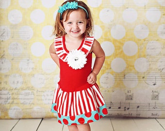 Girls Circus Dress Baby Circus Dress Carnival Theme Circus Party Sizes Circus Baby Toddlers  3-6 6-9 12 18 24 months Girls sizes 2 3 4 5 6 8