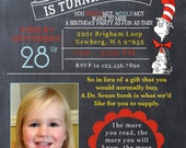 Dr. Seuss Birthday Party Invitation - Customized Just For You