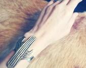 Saguaro Cactus Cuff. Brass southwestern cactus cuff bracelet.