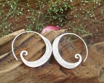 Fine Silver earrings-The Silver One (15)