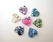 Heart Magnets, set of three, beach theme decor, beach wedding favor, valentine gift