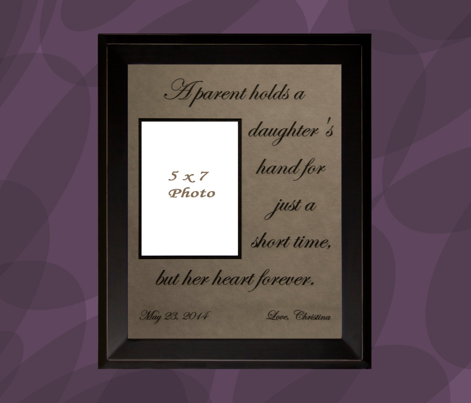 Wedding Gifts For Parents Photo Frames : Gift for Parents Personalized Picture Frame Wedding Gift for