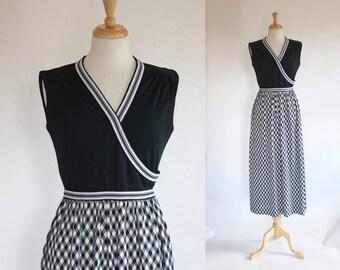 60s Polyester Maxi Dress