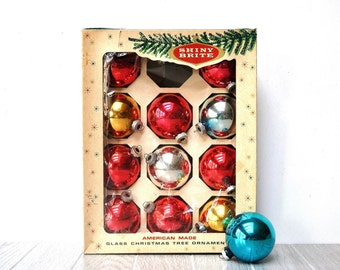 Vintage Shiny Brite Glass Ornaments
