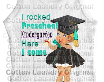 Graduate Shirt tank tee shirt one piece body suit tshirt Vintage inspired childrens tshirt Cotton Laundry Class of 2015