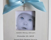 Christening Baptism Gift Custom Personalized Picture Frame Birth Baby Shower First Birthday