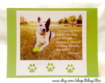You can talk to a dog all day long  Note Card  Blank Inside  Set of 2