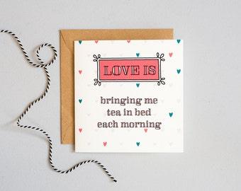 Love is... - Valentine's Card