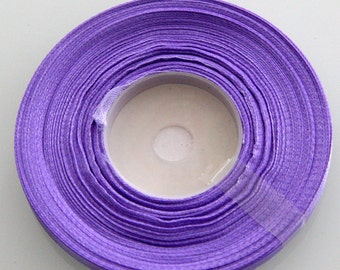25% Off Purple Ribbon, Purple Satin Ribbon  7mm  - 46meters - 50 yards-  S 40 144