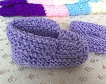 Handmade Knitted Baby Booties