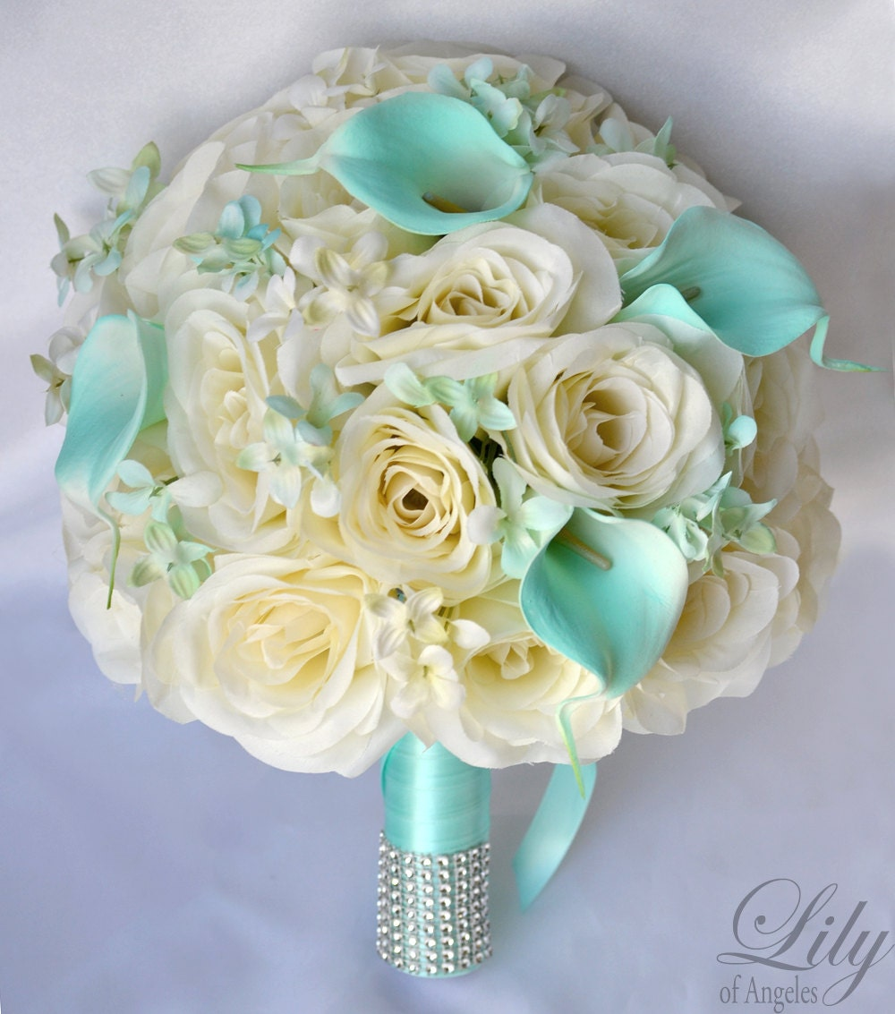 Silk Flower Wedding Bouquet Silk Wedding Arrangements