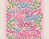 11x14-in Step-Brothers Quote Illustration Print.