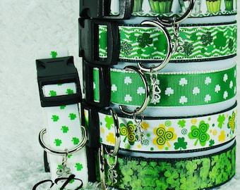 Star's St. Patty's, St. Patrick's Day Custom Dog Collars