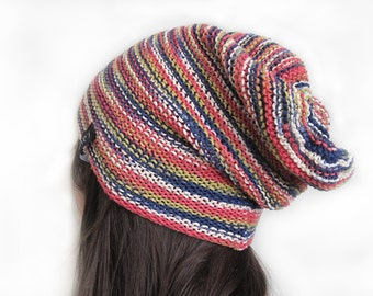 knit slouchy beanie hat for women or teen