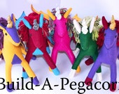 Build-A-Pegacorn, Personalized Fantasy Pegacorn Toy, Eco Friendly, Handmade-to-Order Stuffed Pegacorn, Custom Plush Animal, Unicorn Pegasus