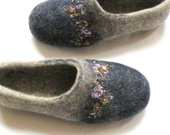 Felt wool slipp Flowers