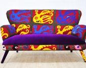 Suzani 2 seater sofa - sunset