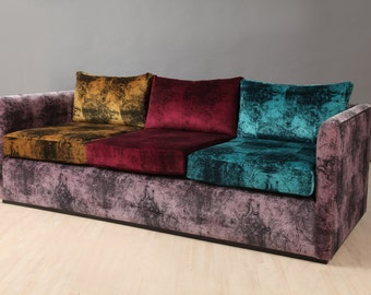 velvet chesterfield patchwork sofa. Black Bedroom Furniture Sets. Home Design Ideas