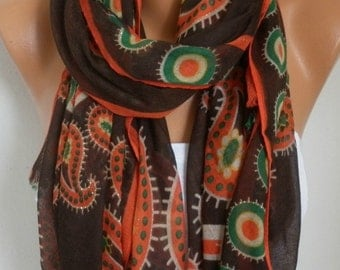 PAISLEY Cotton Scarf Shawl Christmas Gift Fall Cowl Wrap Pareo Gift Ideas For Her Women Fashion Accessories Teacher Gift Women Scarves