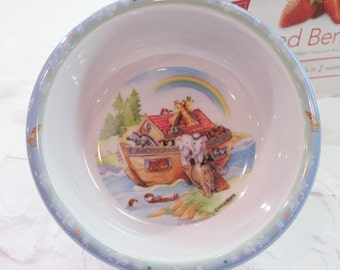 Vintage Peco Melamine Ware Child's Biblical Noah's Ark Cereal Snack Bowl