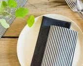 Indigo Broad Stripe Dinner Napkins (Set of 2)
