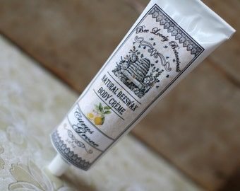 Natural Beeswax Body Creme Citrus Grove Beeswax Hand Cream Natural skincare